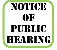 Notice of Public Hearing, November 10th