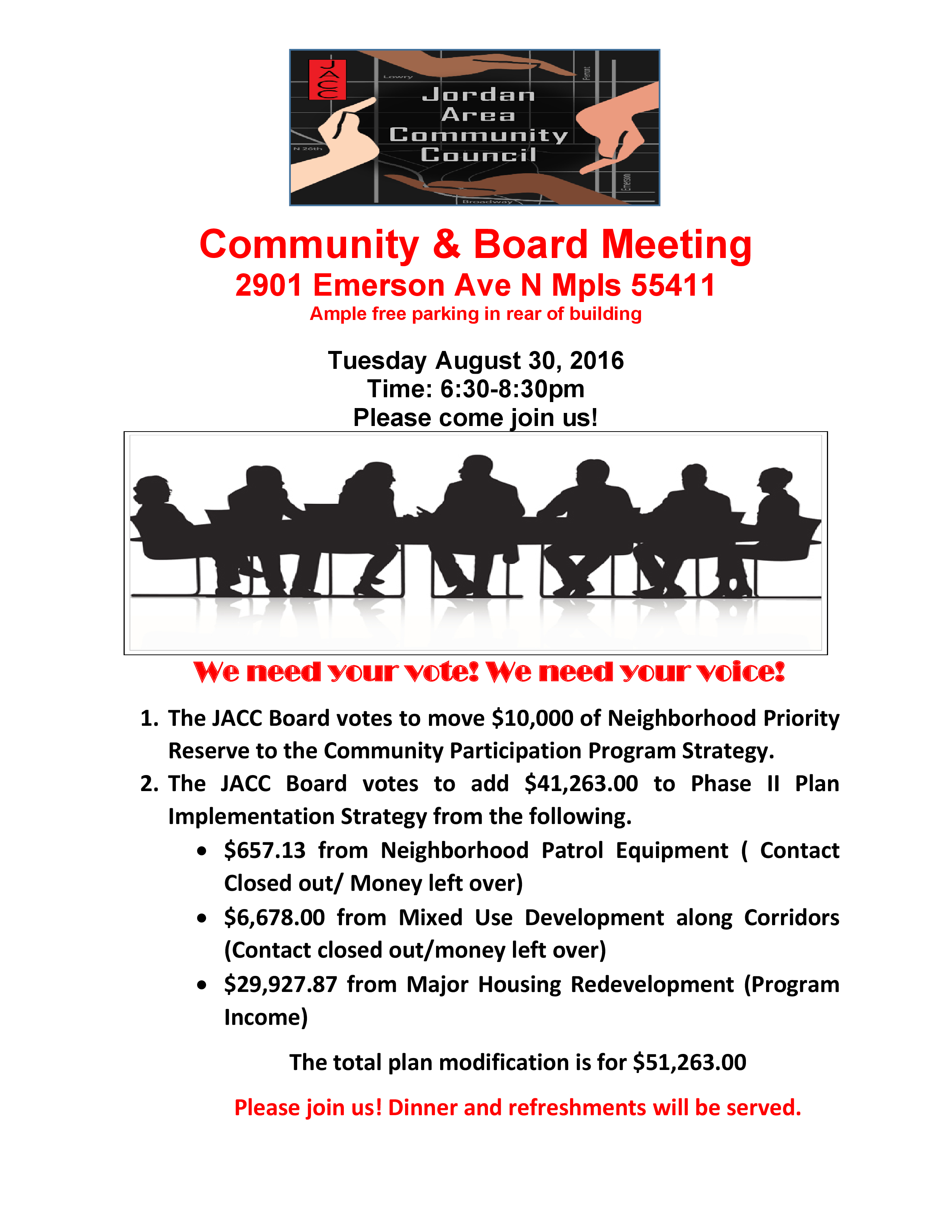 flyer for meeting