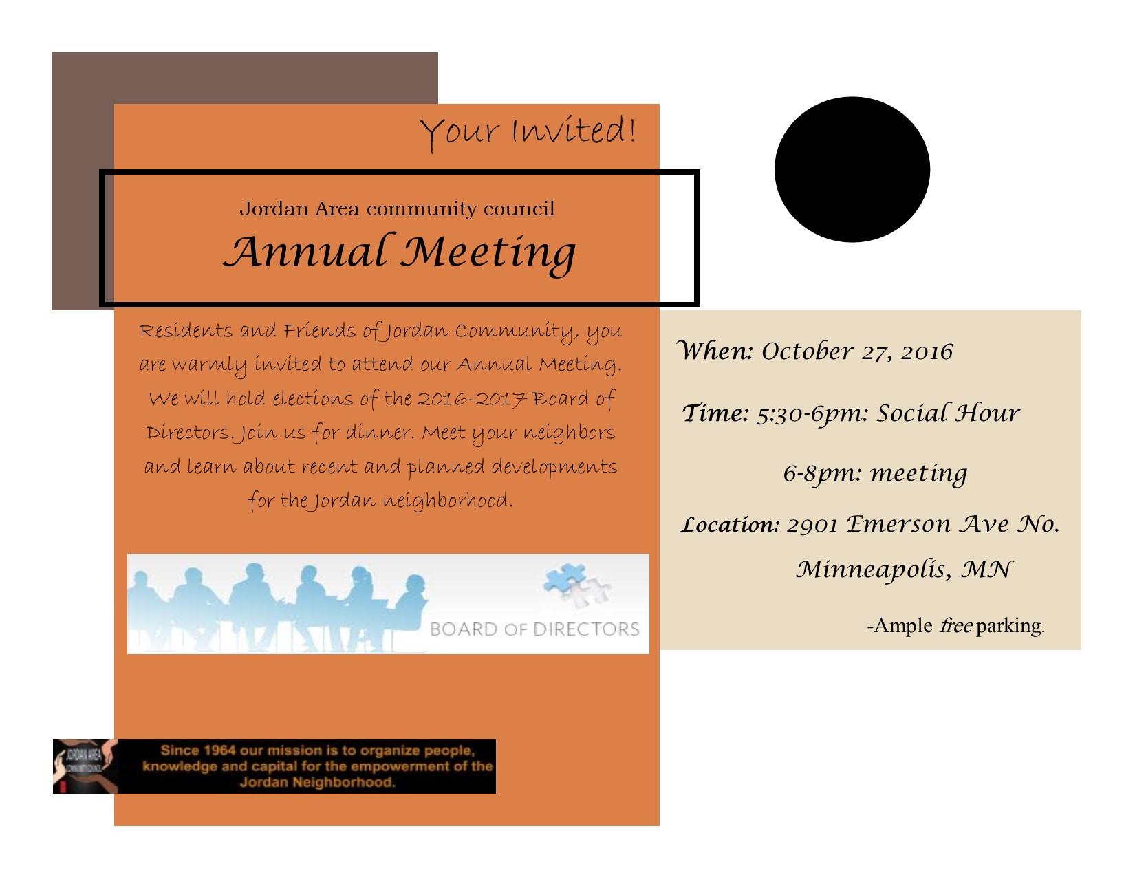 annual meeting flyer 16 jordan area community council