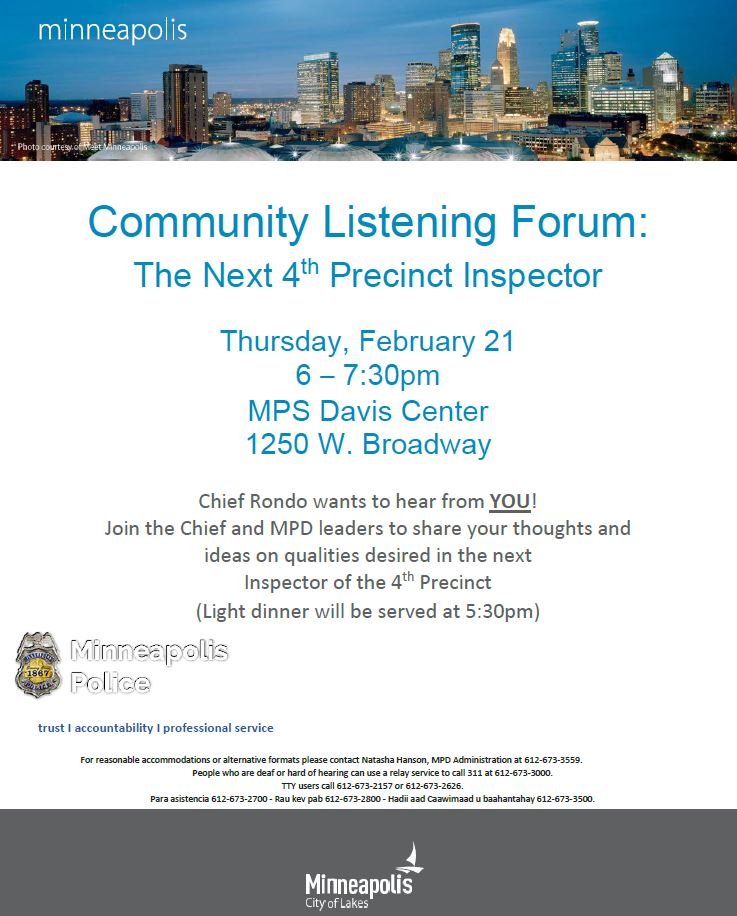 Community Listening Forum | Jordan Area Community Council
